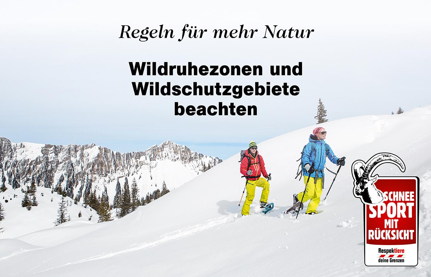Schneesport mit Rücksicht - Respektiere deine Grenzen